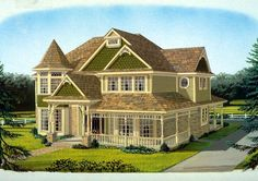 Elevation of Country   Farmhouse  Victorian   House Plan 95686