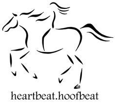 """Heartbeat.Hoofbeat"" design inspired by my mother-in-law's poem which reads, ""Upon the horse the girl was lost, in a pounding, surging beat, not felt upon her own two feet."" Products with this design can be found on my website www.sandrabdesigns.com"