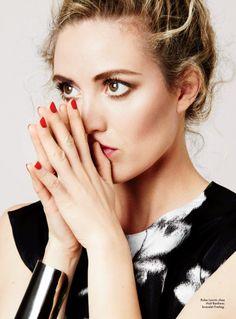 Evelyne Brochu for the cover of Elle magazine Quebec.