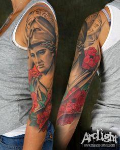 Greek goddess Athena tattoo