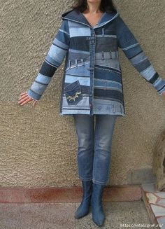 New diy clothes refashion upcycling old jeans 50 ideas Jeans Refashion, Diy Clothes Refashion, Refashioned Clothes, Urban Lifestyle, Diy Kleidung, Jeans Fabric, Denim Ideas, Denim Crafts, Refashioning