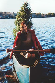 Christmas Canoe