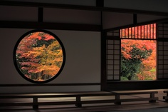 The Window of Enlightenment & The Window of Delusion, Genko-an Temple, Kyoto|源光庵 紅葉