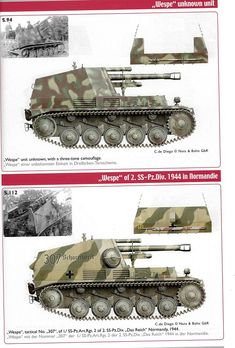 Nuts&Bolts 33 Wespe von J. Panzer Ii, Army Vehicles, Armored Vehicles, Self Propelled Artillery, Camouflage Colors, War Thunder, Military Armor, Ww2 Tanks, World Of Tanks