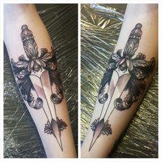 Daggers tattoo. Love it.