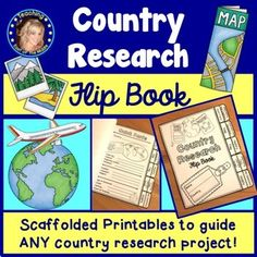 This engaging and fun flip book can be used to guide the research process for any country research project! Your students will love recording information about their chosen country in this comprehensive flip book that covers a wide range of topics! A section dedicated to student questions is included to encourage independent inquiry. No prep - just print!