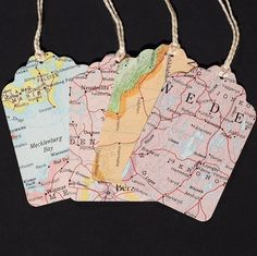 Recycled World ATLAS MAP TAGS