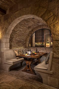 Wine cellar and celebration area...