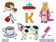 Initial /k/ Poster - Preschool Speech Therapy
