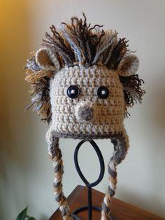 58 Ideas For Crochet Hat Animal Awesome Crochet Scarf Easy, Crochet Mittens, Knit Or Crochet, Halloween Crochet Patterns, Easy Crochet Patterns, Crochet Patterns Amigurumi, Crochet Animal Hats, Crochet Baby Hats, Crochet Hedgehog
