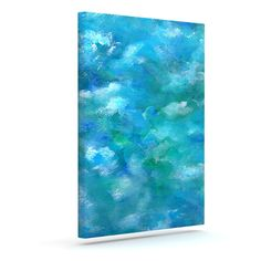 "Rosie Brown ""Ocean Waters"" Blue Aqua Outdoor Canvas Art 