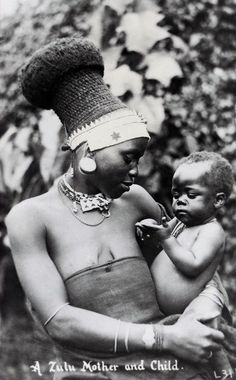 Zulu mother and child South Africa