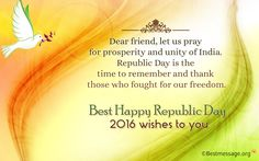 Sweet Happy #Republic #Day Quotes #2016, 67th Republic Day Picture, #Wishes, Wallpapers and Greetings for Friends