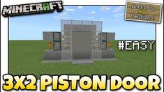 Minecraft Redstone Tutorial, Minecraft Redstone Creations, Minecraft Farm, Farms, It Works, Doors, Mansions, House Styles, Easy