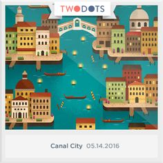 I found the Aquamarine Jewels floating in Canal City . Can you? - playtwo.do/ts #TwoDots