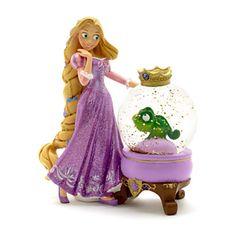 disney parks paris princess rapunzel and pascal glitter resin snow globe new with box