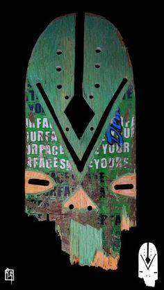 Arte no Shape Máscaras de uma tribo urbana - Clube do skate