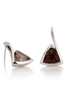 Sterling silver gemstone earrings by British jeweller MANJA.  Shop MANJA at Songofjewellery.com // Free worldwide shipping on all orders // Sign up to our newsletter and get 10% off your first order!