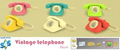 Sweetmint Sims 4: Vintage telephone • Sims 4 Downloads