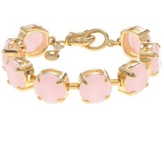 J.Crew Translucent stone bracelet found on Polyvore