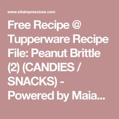 Tupperware Website Recipes - from Consultants, Flyers, Catalogs, Training and more. Submit your favorite recipe today. Tupperware Recipes, Shrimp And Asparagus, Actifry, Peanut Brittle, Recipe Filing, Food Website, Recipe Today, Free Food, Main Dishes