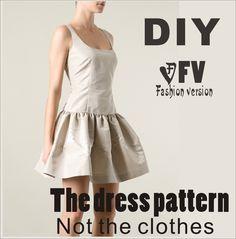 Одежда DIY платье Платья Швейные выкройки рисование женщин Платье Швейные Шаблон BLQ-69