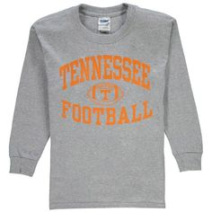 Tennessee Volunteers New Agenda Youth Reversal Football Long Sleeve T-Shirt - Gray - $14.99