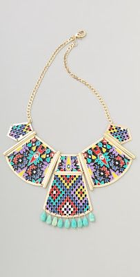 Trend-Spotting: Colorful Statement Necklaces (featuring Noir Jewelry)