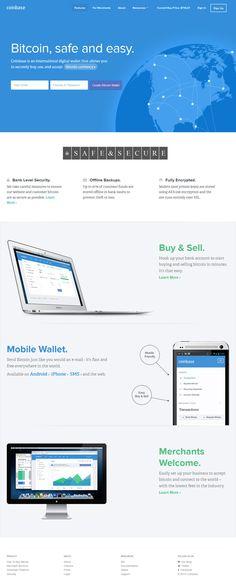 Coinbase - Flat Design Website