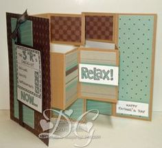 Fathers Day Multi Panel card Inside By Dawn G. A new way for the Tri Fold Shutter card. Love it!