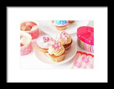 Cup Framed Print - Delicious Dessert Table For Big Party by Nadya&Eugene Photography #FoodPhotography #NadyaEugene