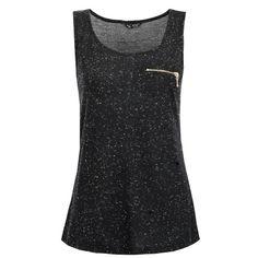 Black Zip Pocket Vest