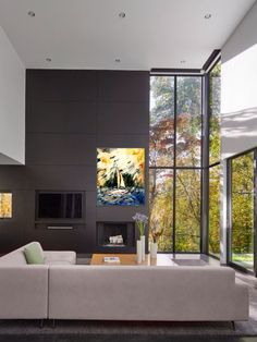 My Oil painting 'Sailing' fits perfectly in this living room For sale
