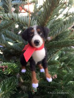 Facci Designs Needle Felted Dog Ornament