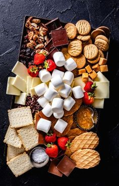 S'mores Party Platter & Awaiting Fall - Jelly Toast - S'mores Party Platter! Campfire Marshmallows S'mores Party Platter! Party Platters, Fruit Platters, Campfire Marshmallows, Dessert Platter, Snack Platter, Party Fruit Platter, Tapas Platter, Fruit Party, Charcuterie And Cheese Board