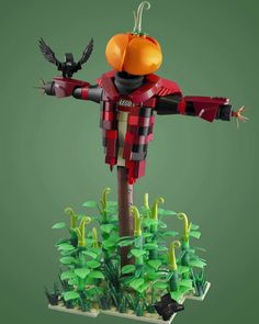 Pull out your pumpkins its almost Halloween! : @dviddy. Follow @brickinspired for more #LEGO inspiration! #brickinspired Lego Scarecrow, Lego Halloween, Halloween Ideas, Lego T Shirt, Used Legos, Lego Toys, Lego Robot, Cool Lego Creations, Lego Design
