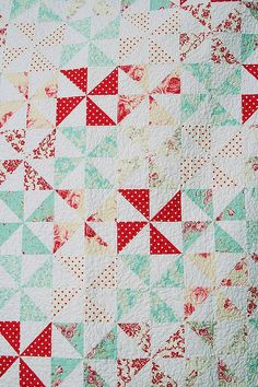 My favorite quilt block and my favorite colors.  Never enough!