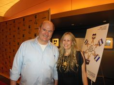 """Top comic and actor, Larry Miller attended the LA JEWISH FILM FESTIVAL at the annual opening night gala to introduce the romantic comedy """"Putzel."""" Here he is with Exec.Director, Hilary Helstein."""