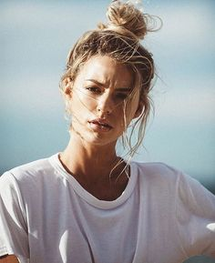 This bun though....  the messier the better we say. #hairinspo #topknot #hair #haircare #beach #TheNAKCollective #NAKhair