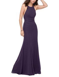 DescriptionWtoo style 400Full length bridesmaid dressHigh halter neckline  that scoops to a low backStraps criss cross c0864f3c7e9