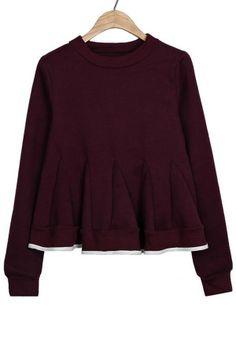 Flounce Fleece Sweatshirt - OASAP.com