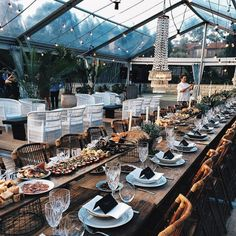 A mature wedding reception look with masculine undertones.Love the greenhouse roof. Light it up with Candle Impressions LED candles.