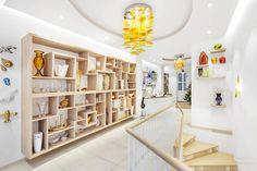 Glassimo gallery, interior, glass, shop, Prague