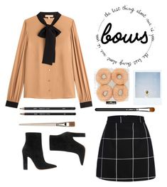 """Bows"" by briesepb ❤ liked on Polyvore featuring Michael Kors, Gianvito Rossi, Polaroid and MAC Cosmetics"