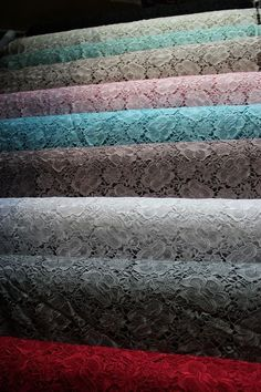 $30 Guipure Lace fabric, elegant embroidery fabric, chemical lace fabric, 10 colors