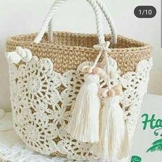 Trendy Ideas for knitting bag sewing crochet Crochet Shell Stitch, Crochet Tote, Crochet Handbags, Crochet Purses, Crochet Stitches, Free Crochet, Knit Crochet, Tapestry Crochet, Purse Patterns