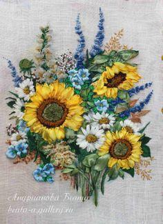 Ribbon Embroidery By Beata Andrianova Russia Agalleryru