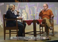 maart 2015 - te gast in het praatprogramma 'Kloostergasten' in Klooster Wittem. In de sfeervolle, monumentale kloosterbibliotheek voel je je als dichter natuurlijk al snel thuis.