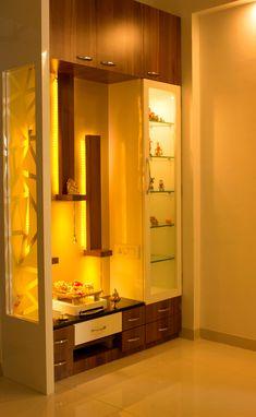 Mandir unit with display and storage: minimalist by yaama intart,minimalist wood wood effect in 2020