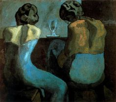 Prostitutes in a Bar (1902) by Pablo Picasso.  [via blueruins]